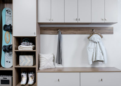 Modern White Entryway Storage